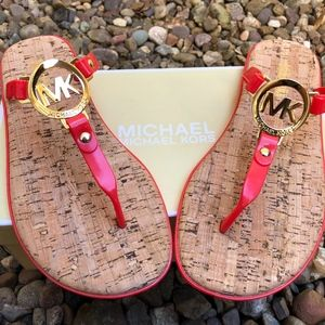 NEW! Michael Kors Jelly and Cork-Board Sandals